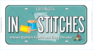 IN STITCHES 2017 RxR License Plate