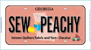 SEW PEACHY 2017 RxR License Plate