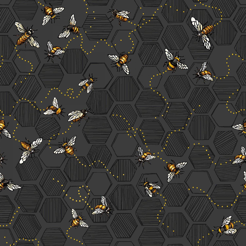 Charcoal Bees 120-99221 Bee Kind Paintbrush Studio