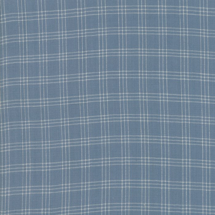 22.5 x WOF Medium Blue Plaid 12215 18 Northport Silky Wovens by Minick & Simpson