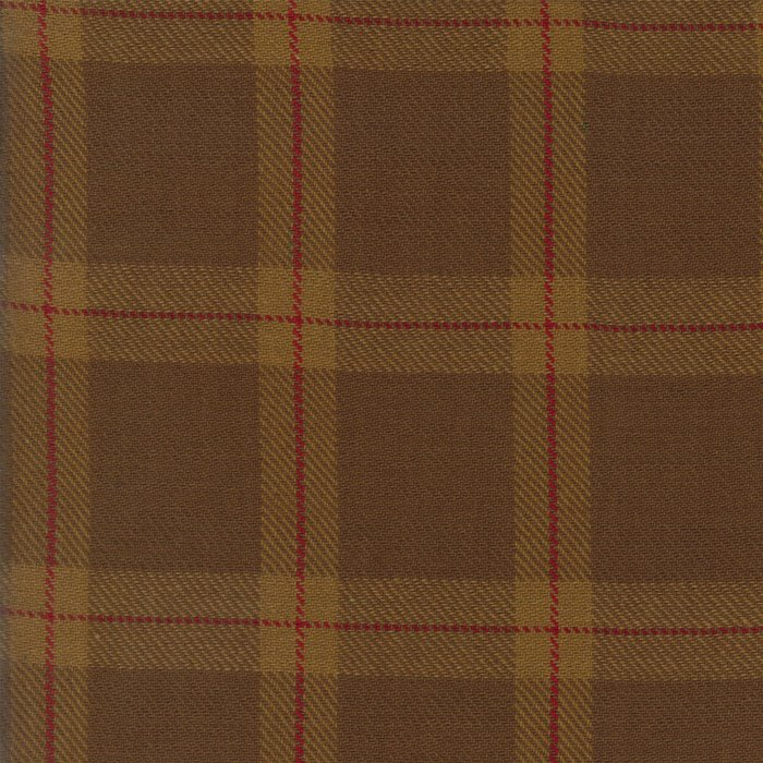 Brown Plaid Large Texture Wovens