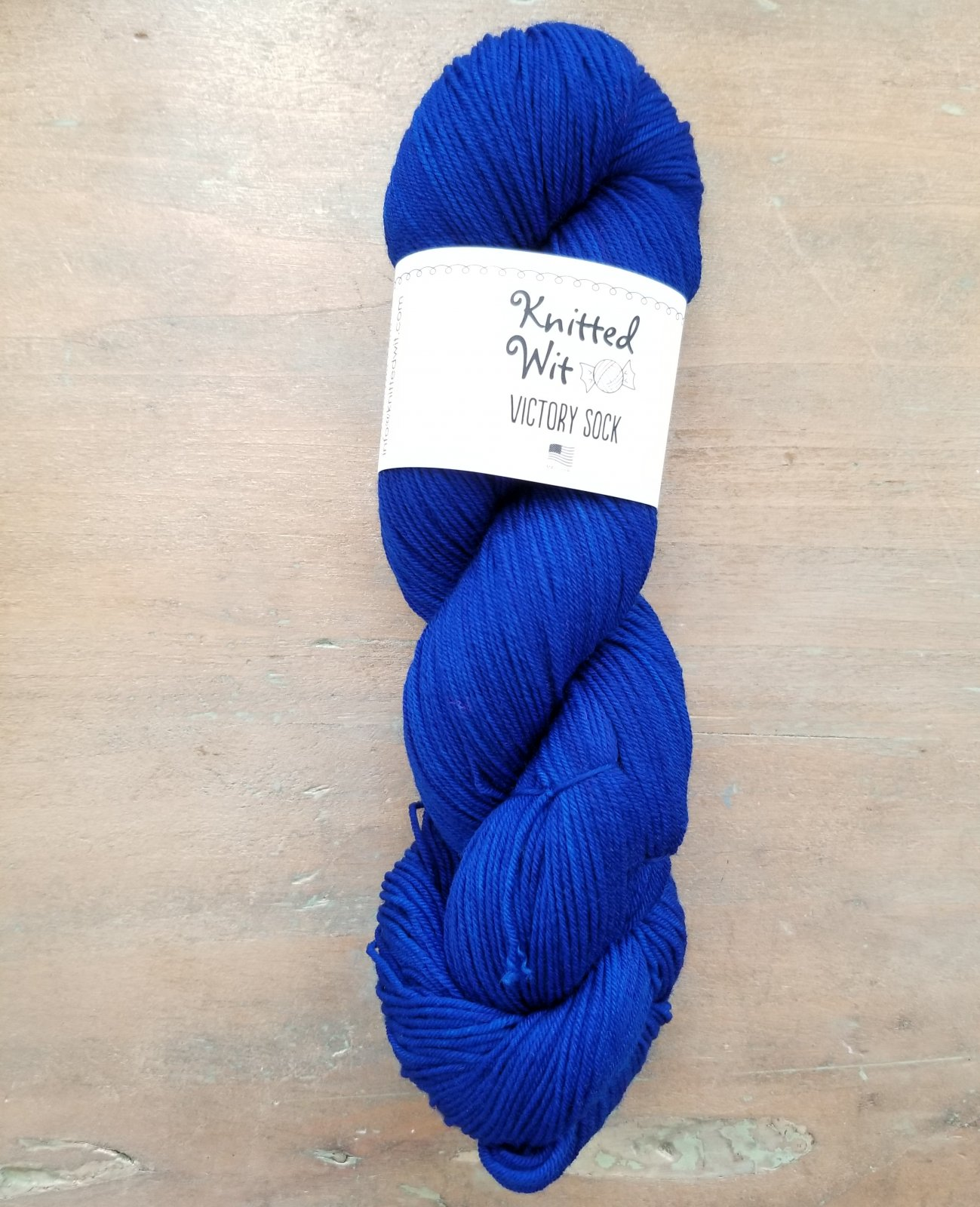 Blue Victory Sock by Knitted Wit