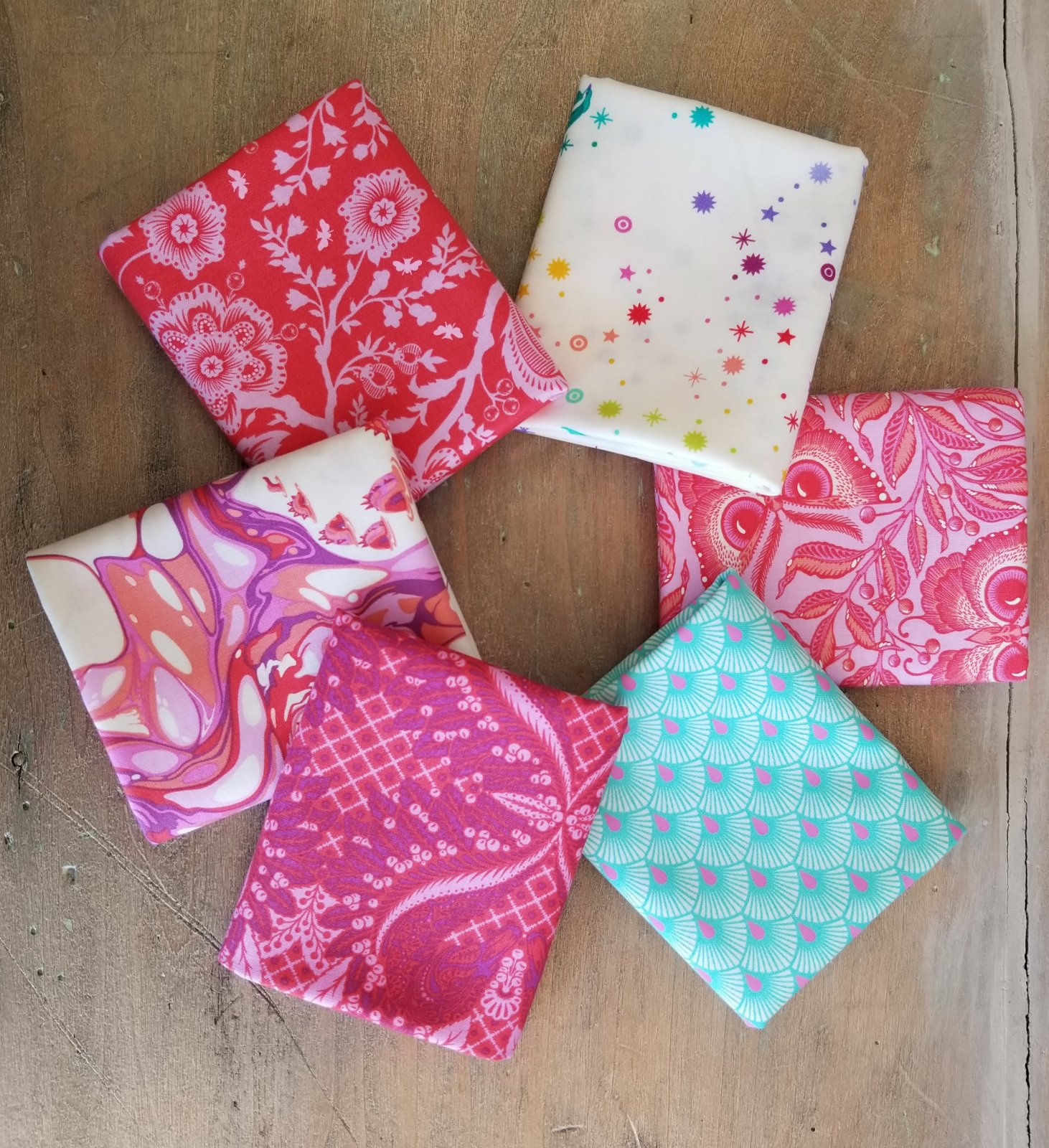 Pinkerville 6 Fat Quarter Bundle -- choose from Cotton Candy, Daydream and Frolic colorways
