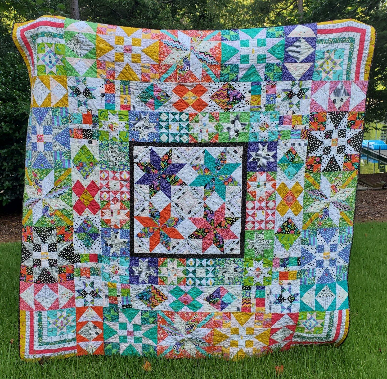 Tula Pink's Bakers Dozen quilt kit pattern sold separately