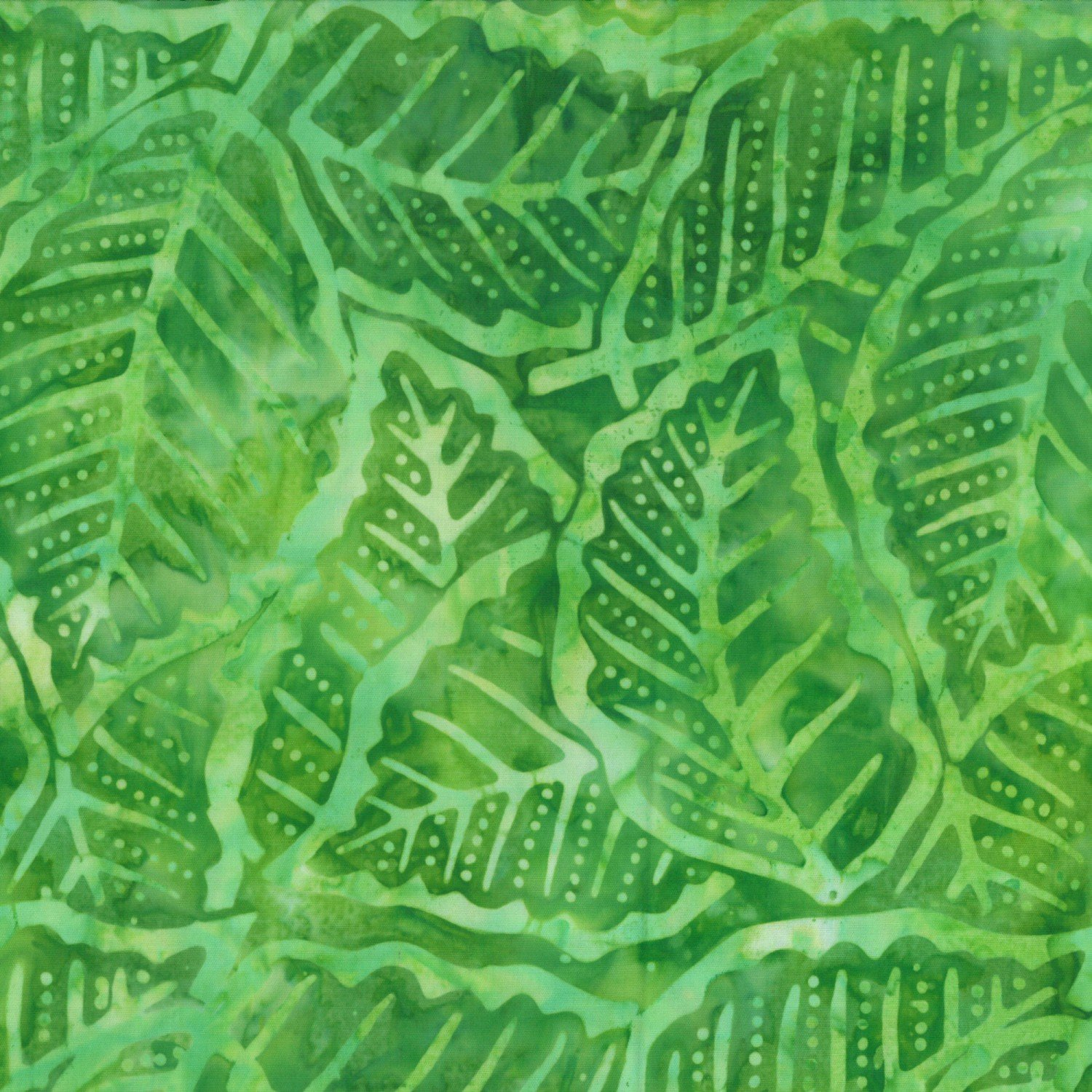 Lime Green Packed Leaves Batik 22153-774