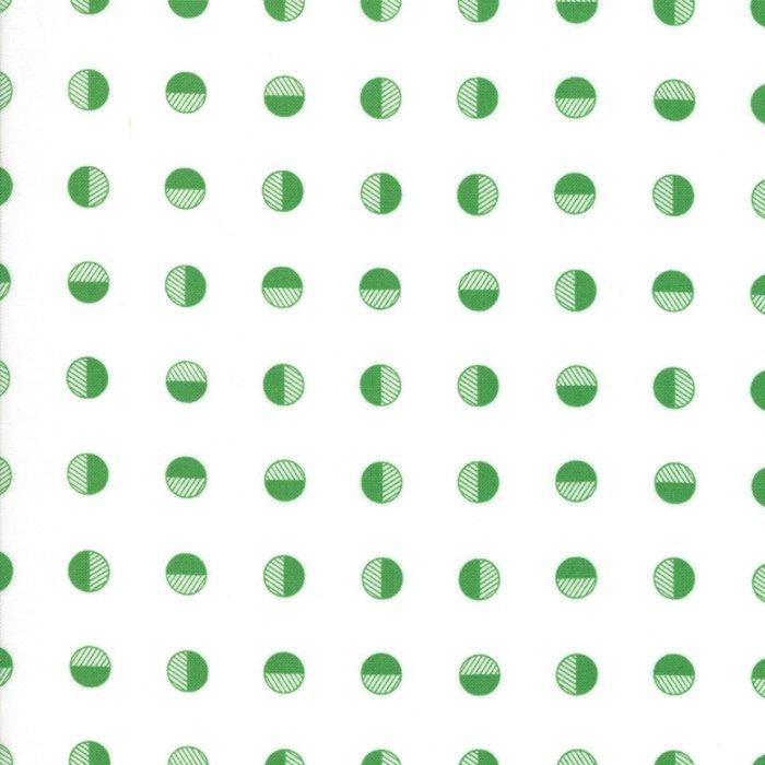 Half Snowballs White Green 22304-22