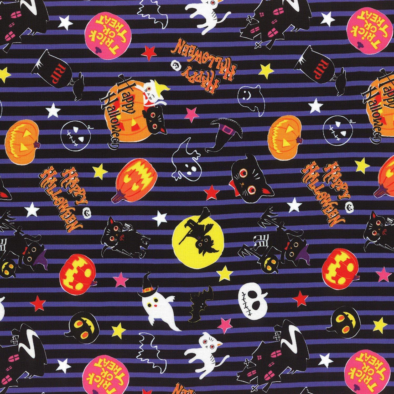 Striped Halloween Lecien 40692L-110