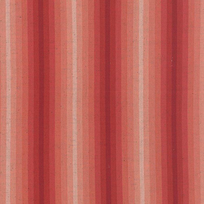 Stripe Coral LINEN 1/2-yard minimum