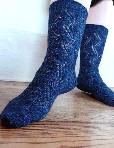 Crooked Brook socks by Knitspot