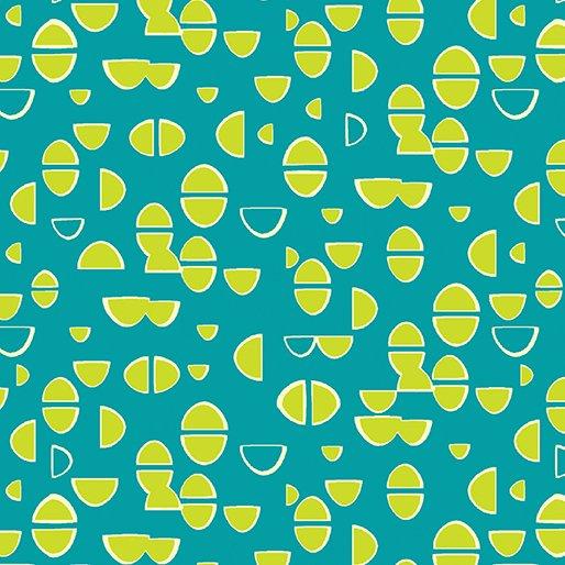 Teal Half Ovals 4661-84 Modern Marks by Christa Watson