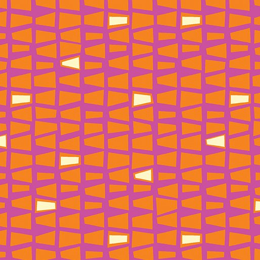 Pink/Orange Quirky Triangles 4665-22 Modern Marks by Christa Watson