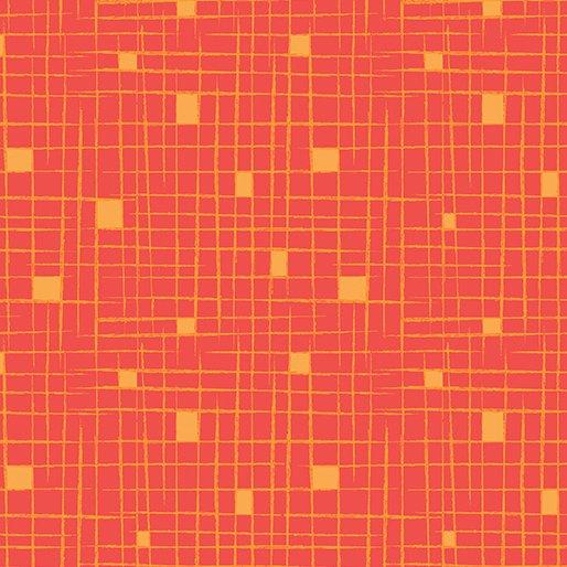 Tangerine Crosshatch 4666-27 Modern Marks by Christa Watson