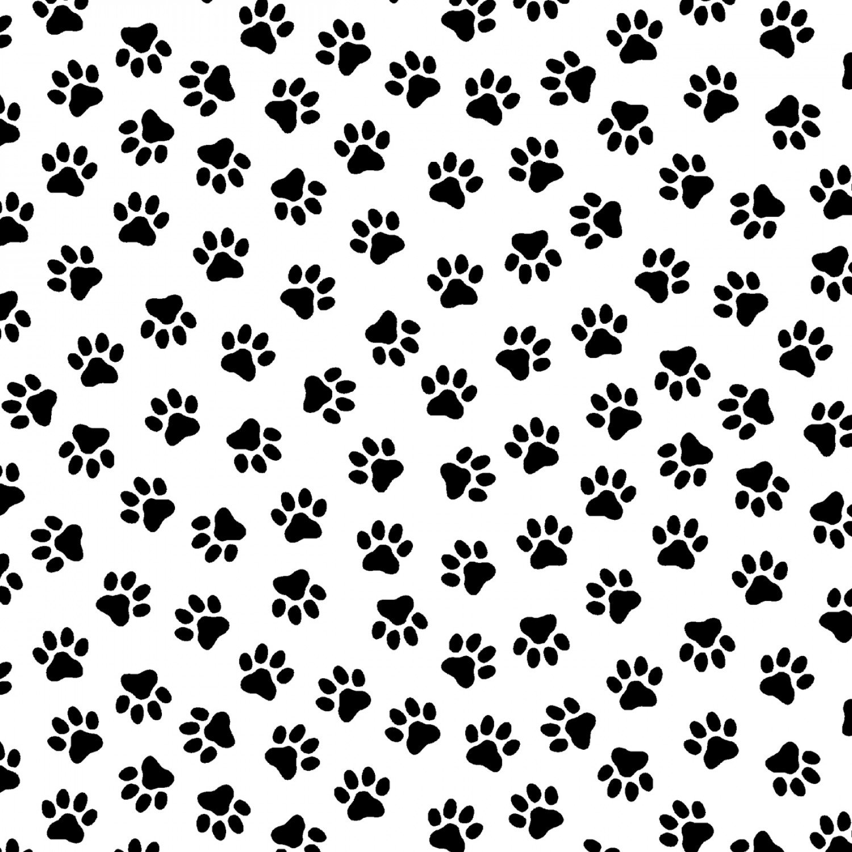 Paw Prints black/white 50966-2 Somebody to Love by Whistler Studios