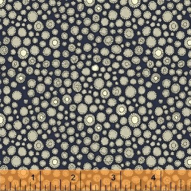 Navy Flower Buttons 51291-1 Fantasy by Sally Kelly