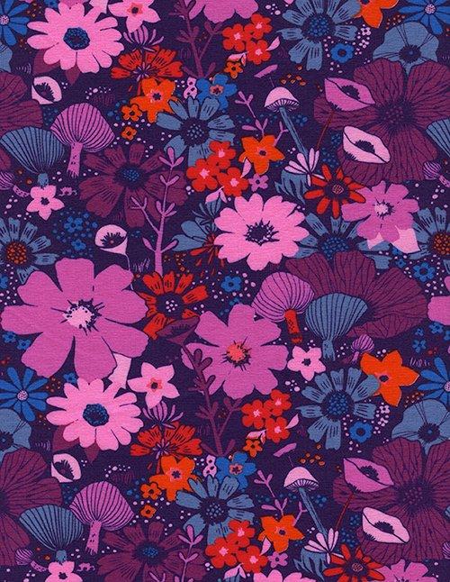Bouquet Grape 5158-27 Dress Shop Cotton+Steel