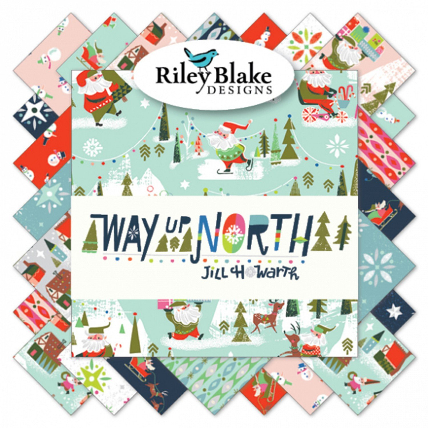 5 inch Stackers 5-7320-42 42 pieces of Way Up North by Jill Howarth