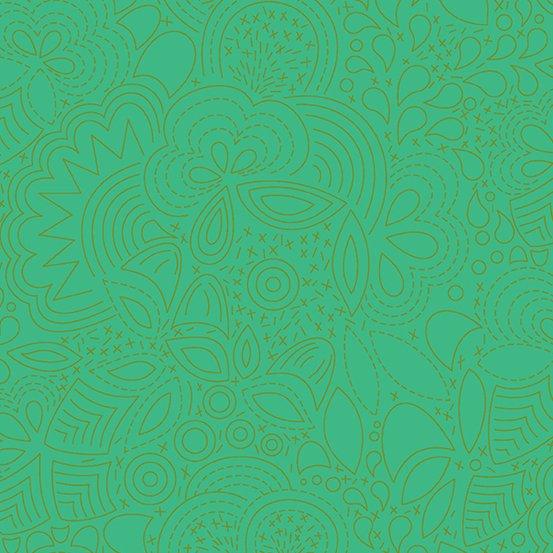 Grasshopper Stitched A-8450-G Sunprint 2020 by Alison Glass