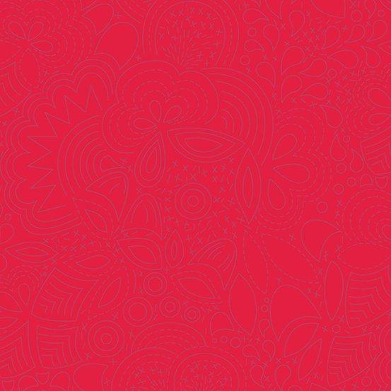 Poppy Stitched A-8450-R2 Sunprint 2020 by Alison Glass
