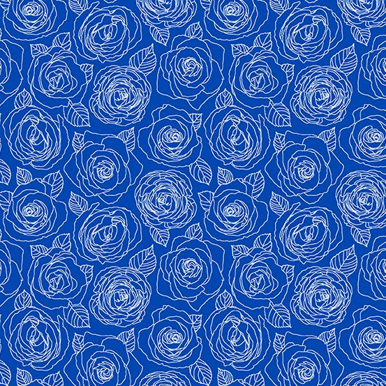 True Blue Rose Outlines A-8882-B Mosaic by Shannon Brinkley