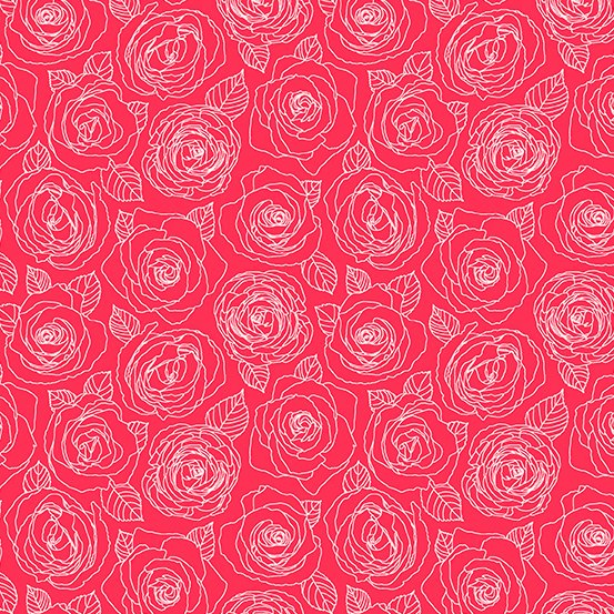 Cherry Rose Outlines A-8882-E Mosaic by Shannon Brinkley