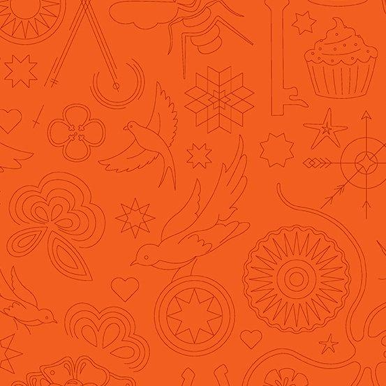 Pumpkin Embroidery A-9256-O Sunprint 2020 by Alison Glass