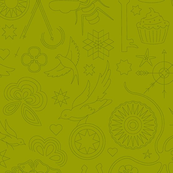 Olive Embroidery A-9256-V Sunprint 2020 by Alison Glass
