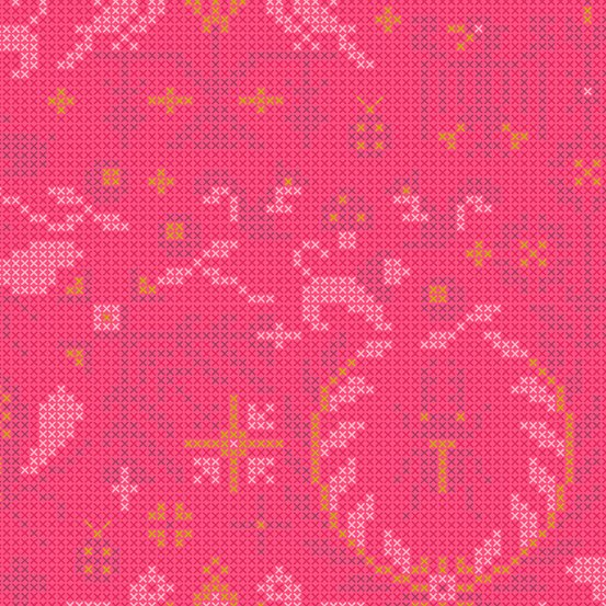 Salmon Menagerie A-9387-E Sunprint 2020 by Alison Glass