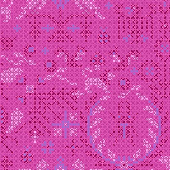 Dahlia Menagerie A-9387-P Sunprint 2020 by Alison Glass