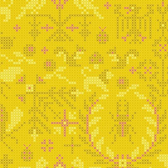 Pencil Menagerie A-9387-Y Sunprint 2020 by Alison Glass