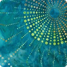 Teal AMD-15512-213 Artisan Batiks: Dot and Spots Robert Kaufman