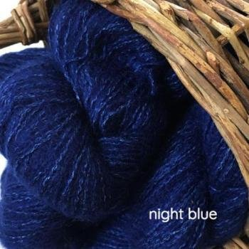 Night Blue Affetto Seta by Hamilton Yarns
