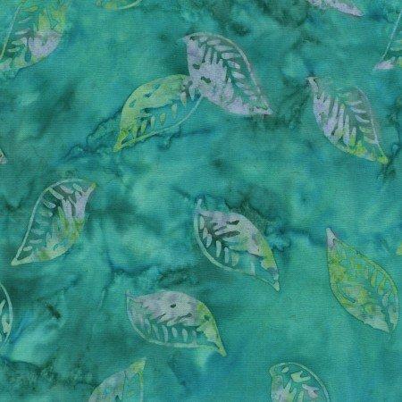 Floating Leaves Turquoise batik