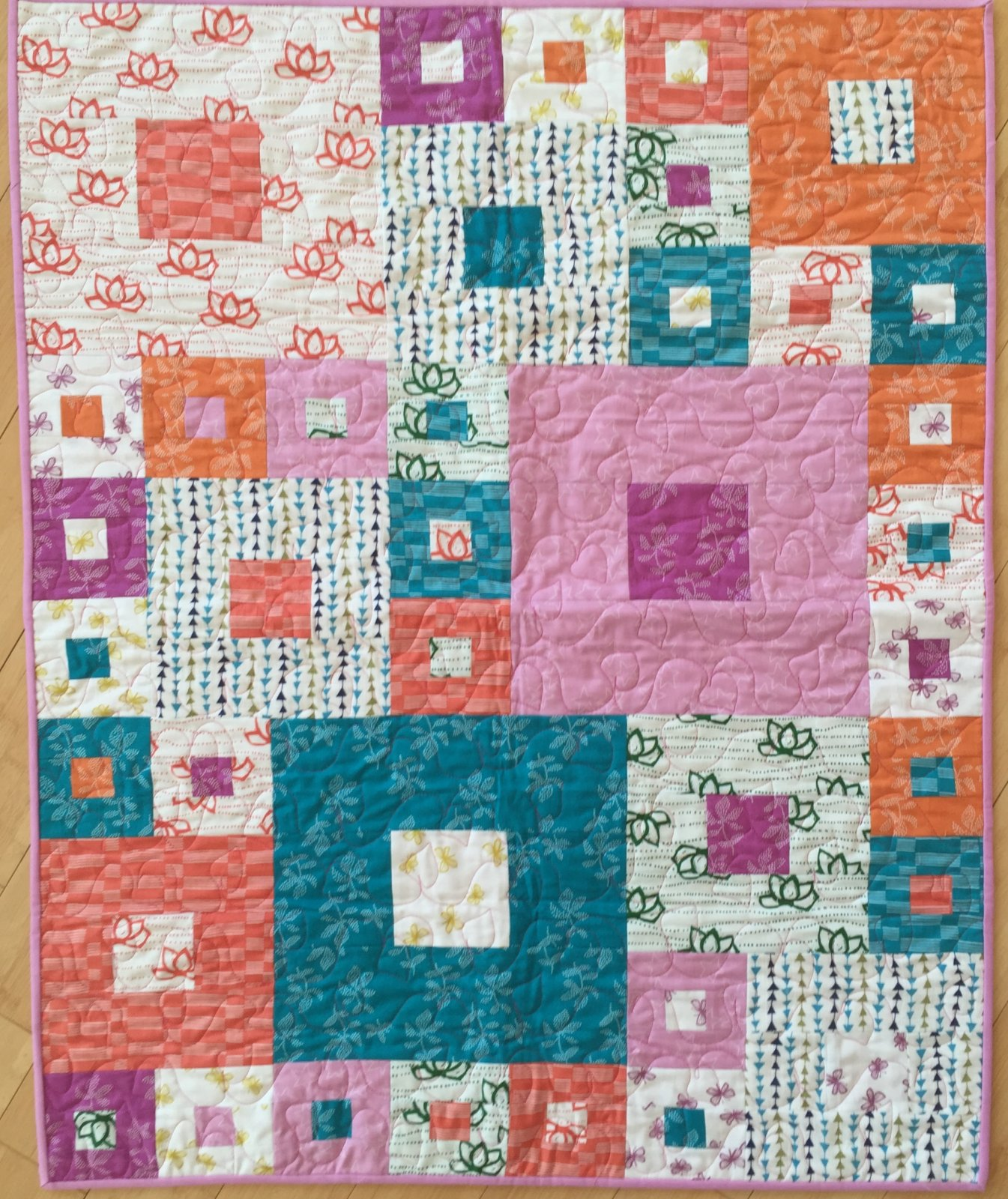 Baby Squares Squared quilt kit (32x40)