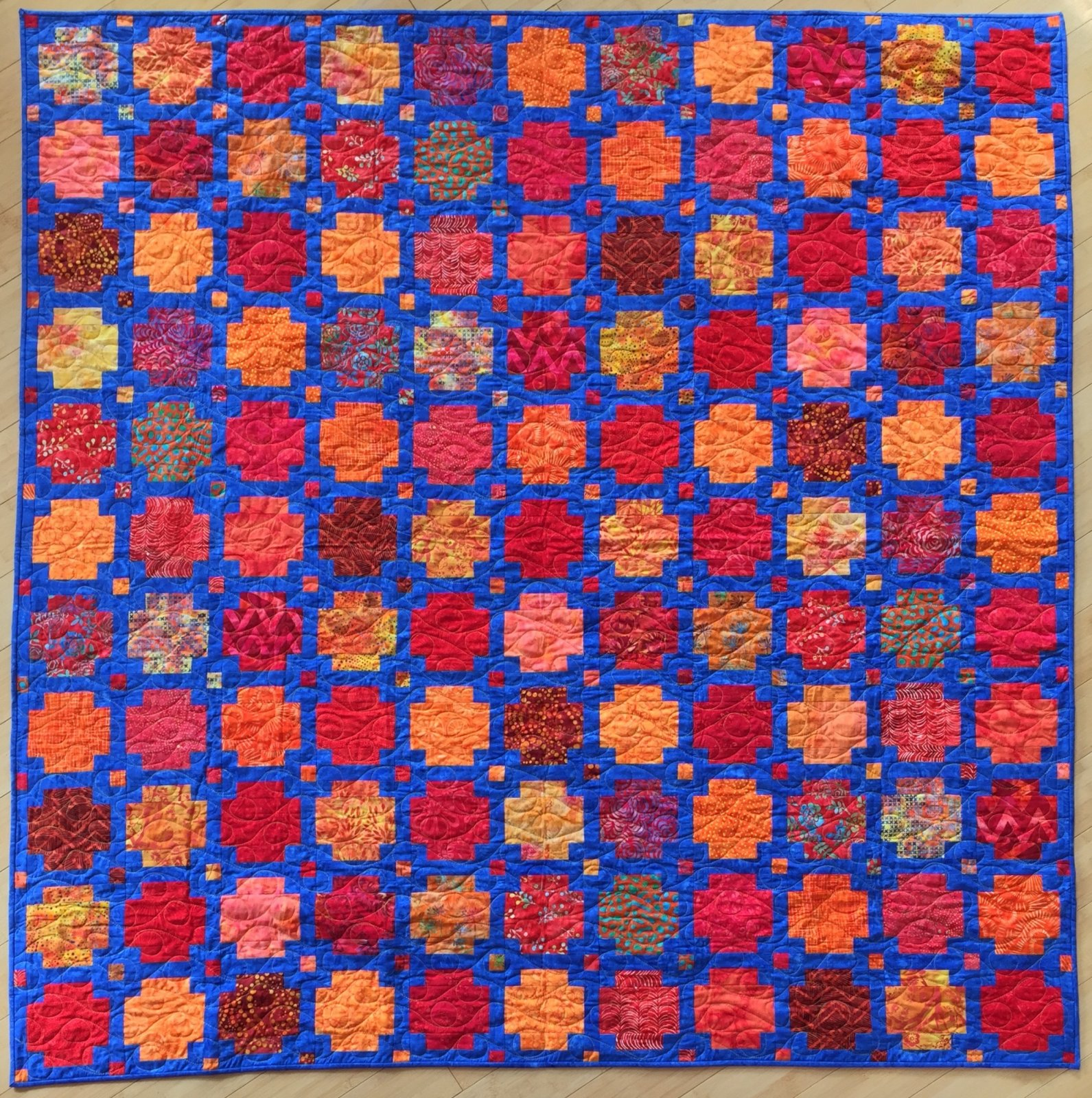 Batiks for the Boys fat 8ths Red/Orange Batiks