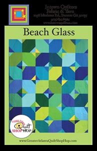 Beach Glass 2018 Greater Atlanta Quilt Shop Hop pattern