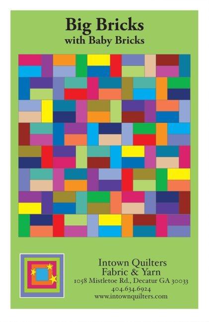 Big Bricks quilt pattern with Baby Bricks