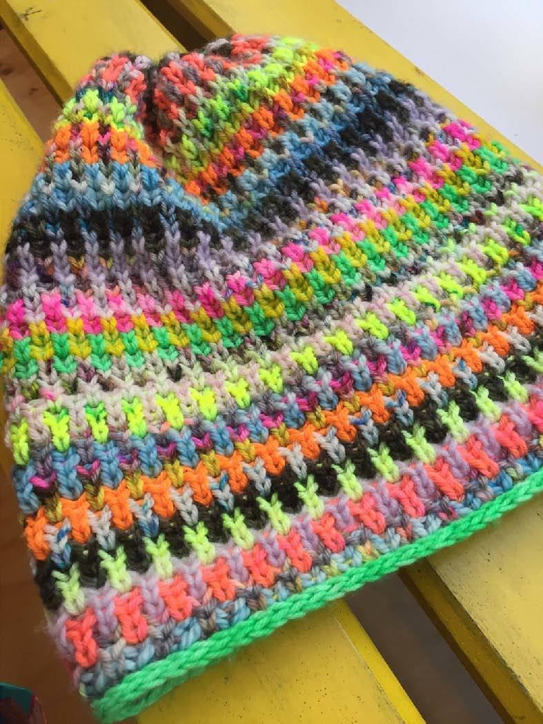 Bits & Bobs in Brioche hat by WestKnits