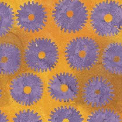Kaffe Fassett Artisan Saw Circles Lilac batik