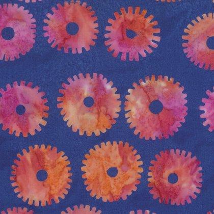 Kaffe Fassett Artisan Saw Circles Royal batik