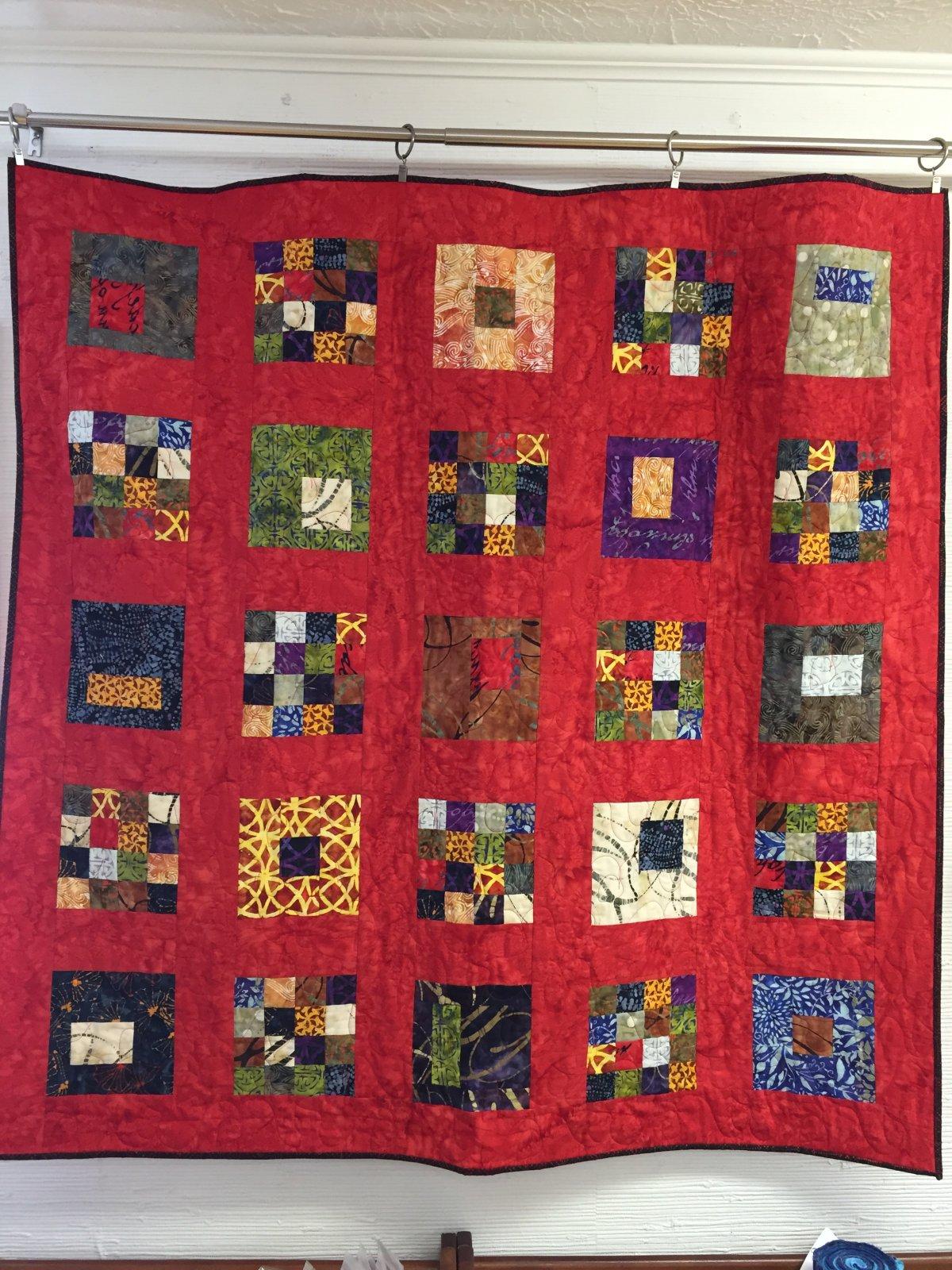 Boutiques Tetris quilt kit (48x48)