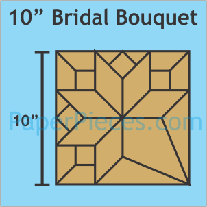 PREORDER 10 Bridal Bouquet acrylic templates with 3/8 seam allowance