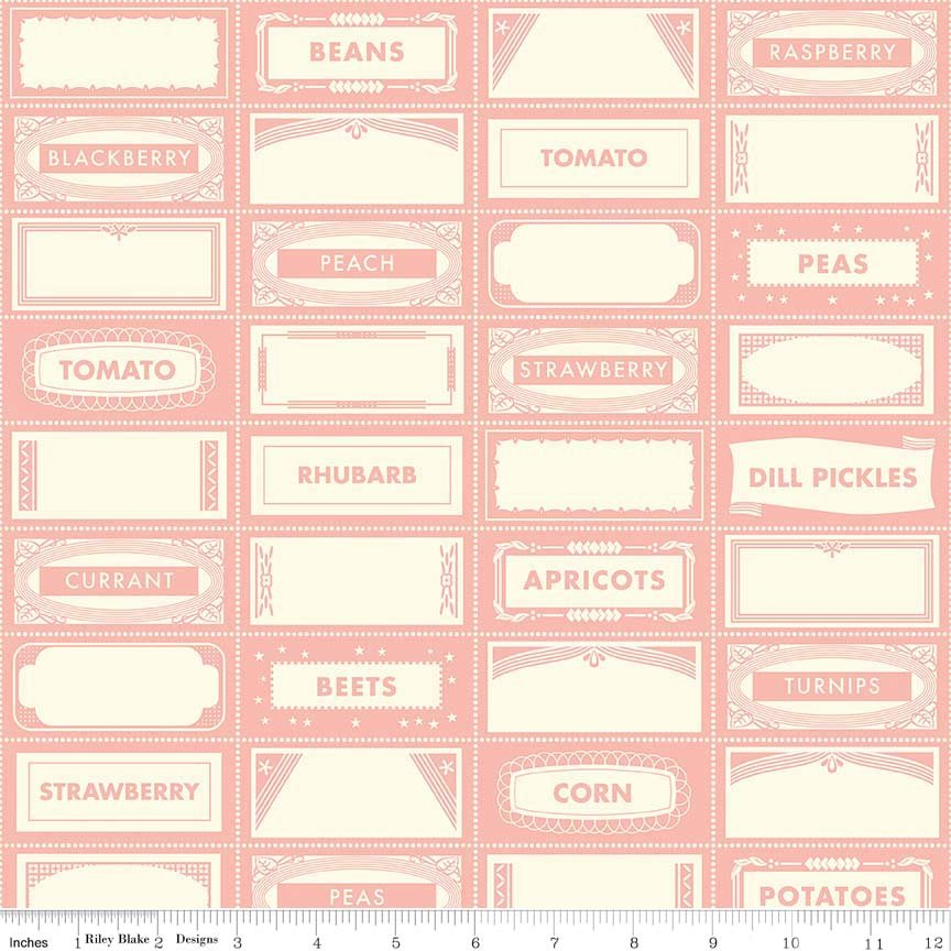 Canning Labels Pink