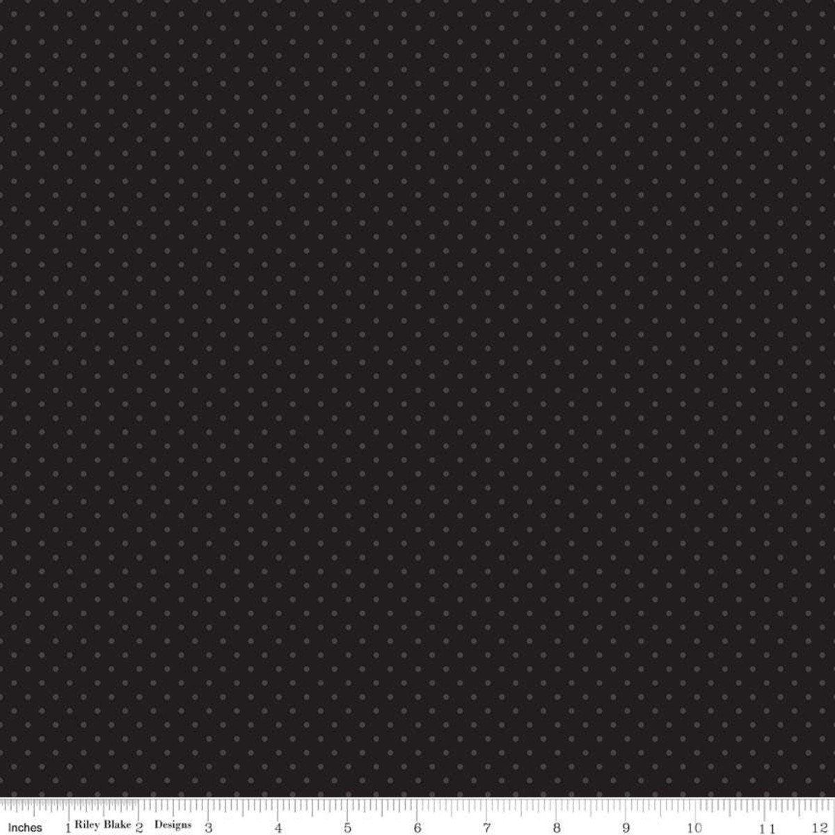 Black Swiss Dot C790-110 BLACK Cotton Basics by Riley Blake Designs