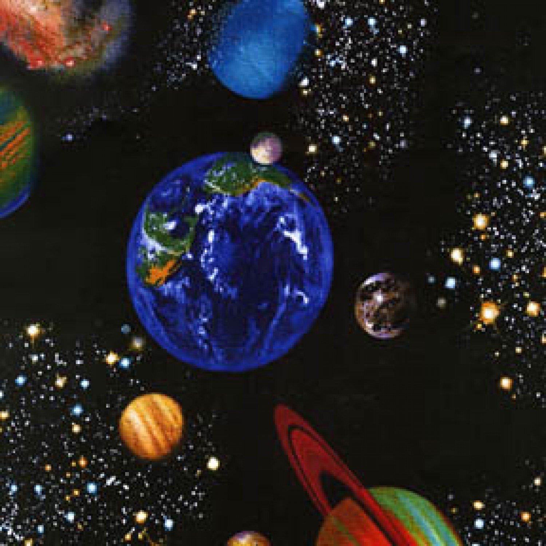 Planets on black SPACE-C8219-BLACK