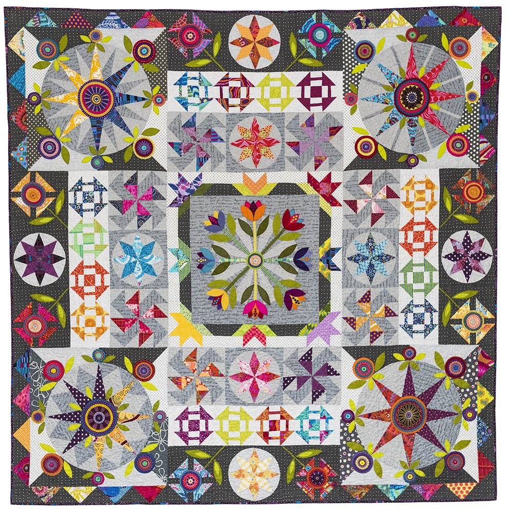 Template Set for While the Cat's Away quilt pattern by Wendy Williams of Flying Fish Kits