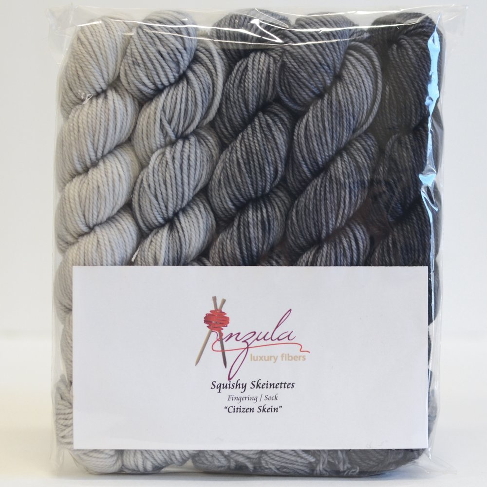 Citizen Skein Squishy Skeinettes by Anzula Fingering/Sock Weight
