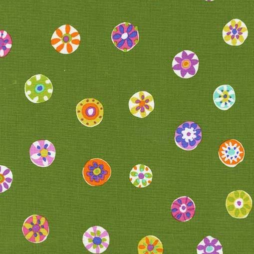 Folk Floral Dot Avocado