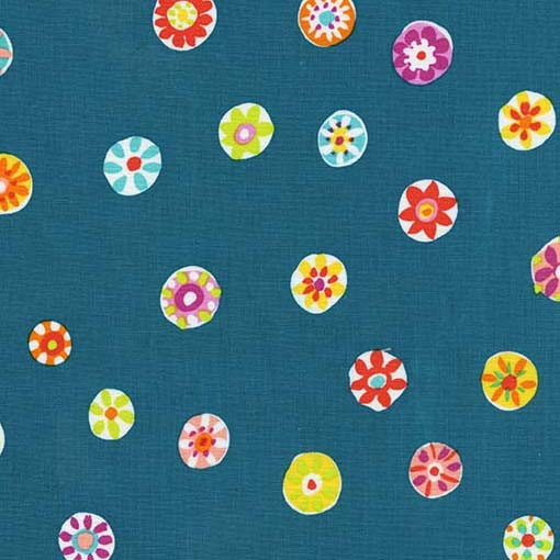 Folk Floral Dot Teal
