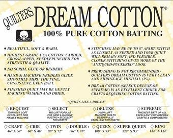 Supreme Crib Natural Dream Cotton batting