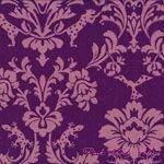 Decoro Gothic Purple Floral Canvas 1/2-yard minimum